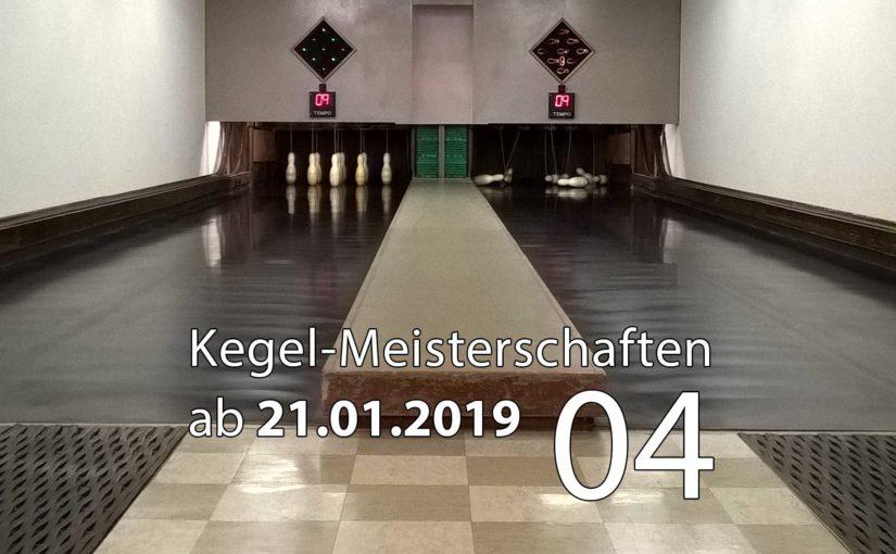 Kegel-Meisterschaften ab 21. Januar 2019 (KW 04)