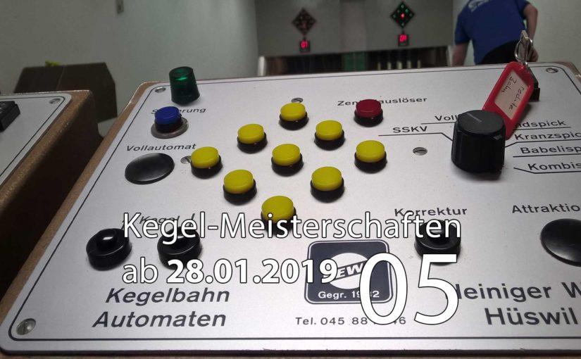 Kegel-Meisterschaften ab 28. Januar 2019 (KW 05)