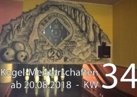Kegel-Meisterschaften ab 20. August 2018 (KW 34)