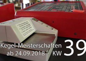 Kegel-Meisterschaften ab 24. September 2018 (KW 39)