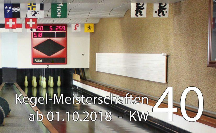 Kegel-Meisterschaften ab 01. Oktober 2018 (KW 40)
