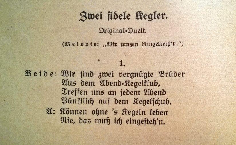 Lied: Zwei fidele Kegler