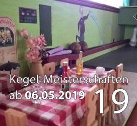 Kegel-Meisterschaften ab 06. Mai 2019 (KW 19)