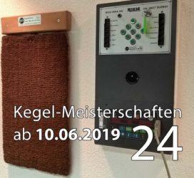Kegel-Meisterschaften ab 10. Juni 2019 (KW 24)