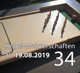 Kegel-Meisterschaften ab 19. August 2019 (KW 34)