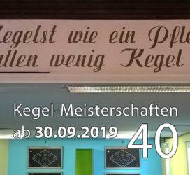 Kegel-Meisterschaften ab 30. September 2019 (KW 40)
