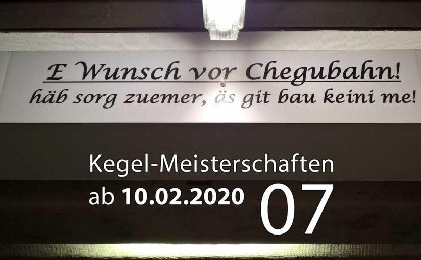 Kegel-Meisterschaften ab 10. Februar 2020 (KW 07)