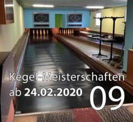 Kegel-Meisterschaften ab 24. Februar 2020 (KW 09)
