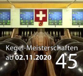 Kegel-Meisterschaften ab 02. November 2020 (KW 45)