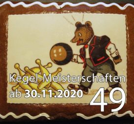 Kegel-Meisterschaften ab 30. November 2020 (KW 49)